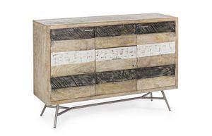 Anrichte 2A-3C Leiston, Sideboard aus rustikalem Holz