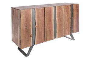 Anrichte 3A Aron, Sideboard aus Akazienholz und Metall