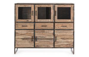 Anrichte 6A-3C Elmer, Sideboard mit 6 Türen und 3 Schubladen