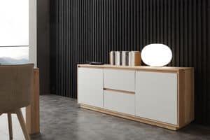 Art. 694MD Madia Factory, Sideboard mit weiß lackierten Fronten, für Wohnzimmer