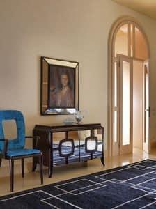 Art. VL117, Sideboard aus Holz mit Spiegeltüren