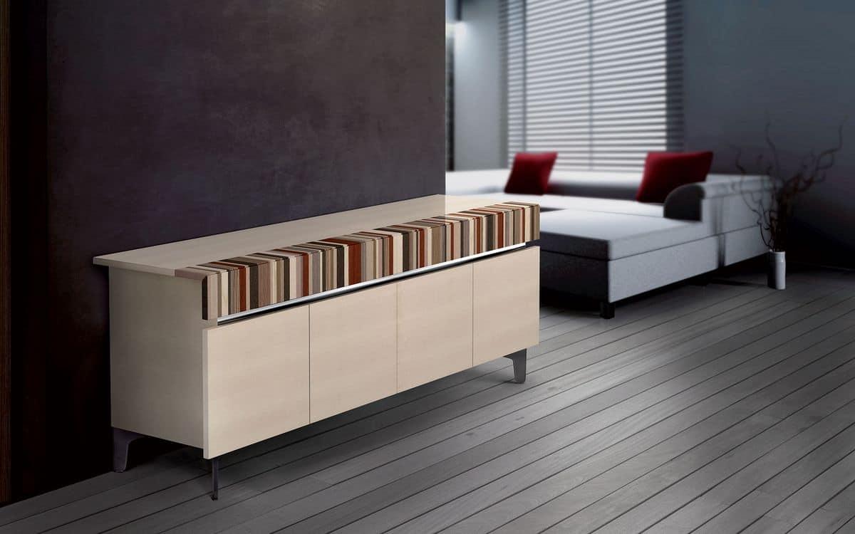 design seitenschrank 4 t ren ideal f r moderne wohnumfeld idfdesign. Black Bedroom Furniture Sets. Home Design Ideas
