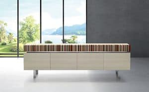 ATHENA 2.7 BC ACERO FRISEE, Maple Essenz Sideboard, ideal für moderne Umgebungen
