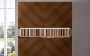 ATHENA QUADRA BC-TEAK, Teak-Sideboard, handgemacht, 2 Türen, ideal für elegante Umgebungen