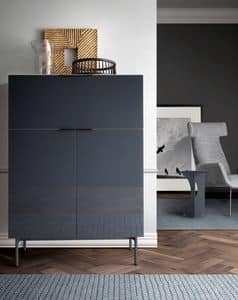 Brema, Schrank für Wohnzimmer, mit Push-Pull-System
