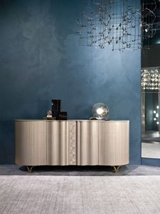 CR62 Mistral Sideboard, Hohes Sideboard in Pamaholz