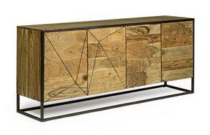 Anrichte 4A Egon, Sideboard aus Akazienholz