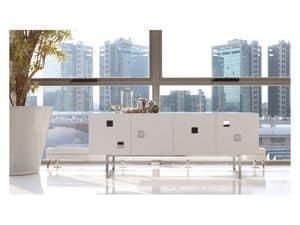 Cubox, Anrichte in weiß matt oder glänzend, moderner Stil