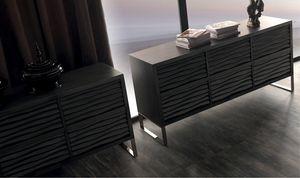 Ebon Art. 445, Sideboard aus Holz, mit sechs Schubladen