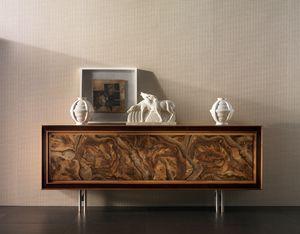 Elettra Art. EL501, Sideboard mit Walnusswurzel vorne