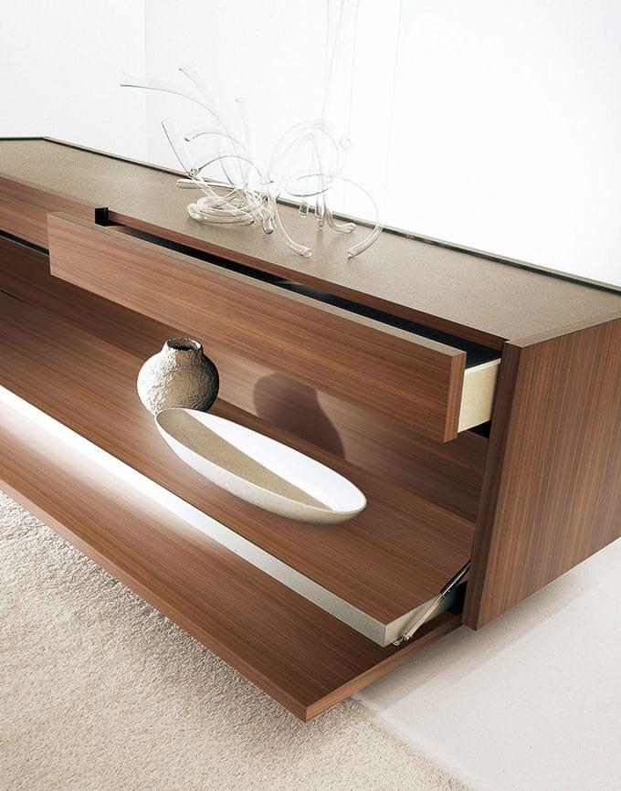 design sideboard mit klappe und abnehmbaren tablett idfdesign. Black Bedroom Furniture Sets. Home Design Ideas