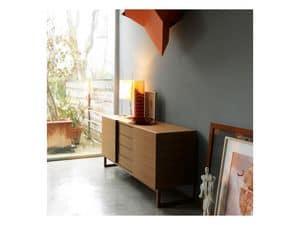 Fast, Sideboard aus Holz mit Türen, modernen Stil Schiebetüren