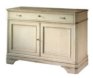 Floriane BR.0003, Sideboard mit 2 Türen und 1 Schublade, klassischen Stil