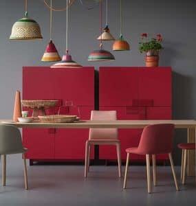 Ginevra, Kabinett mit einem einfachen Design, mit hervorstehenden Türen