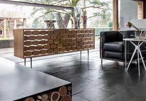HONEY, Sideboard aus Holz, mit Bienen Dekoration, für Wohnzimmer