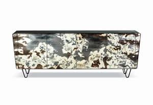 Icaro, Handverziertes Sideboard, mit anpassbaren Oberflächen