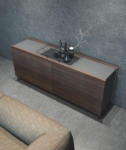 Ironwood Sideboard Eucalipto, Modernes Sideboard mit Türen und Schubladen