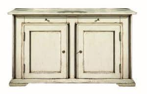 Juliane BR.0001.L, Brocantage Sideboard mit 2 Türen, klassischer Stil