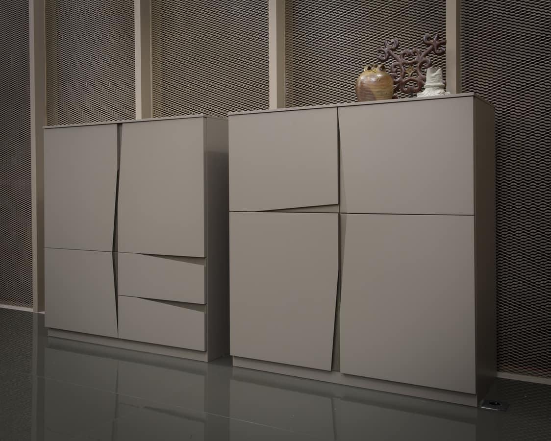 SEGELN, Schrank mit Türen und Schubladen, original Griff