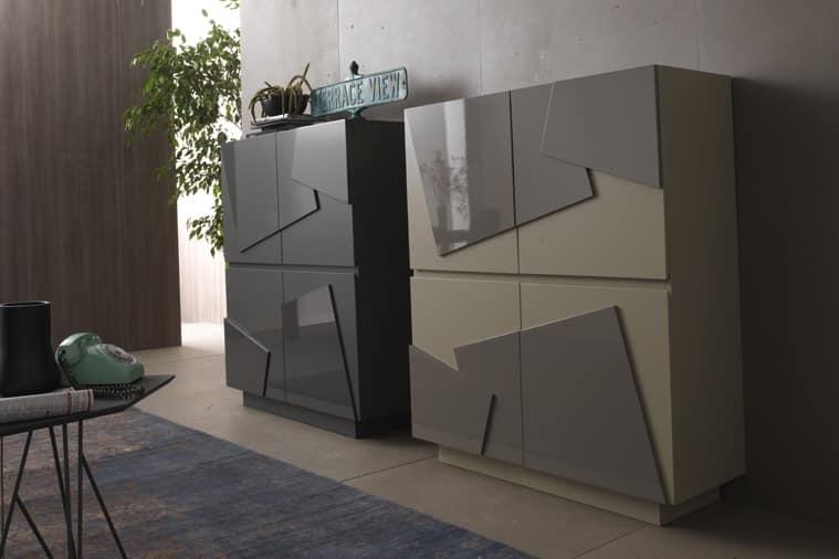 sideboard mit 4 t ren in verschiedenen ausf hrungen f r wohnzimmer idfdesign. Black Bedroom Furniture Sets. Home Design Ideas