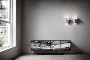 Stratos, Sideboard mit Türen in Mosaik aus Steinen und Keramik
