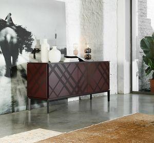 TARTAN, Sideboard aus Holz und Metall
