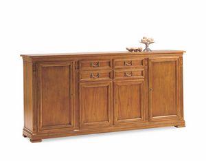 Villa Borghese Anrichte 7371, Sideboard aus Holz mit Türen und Schubladen