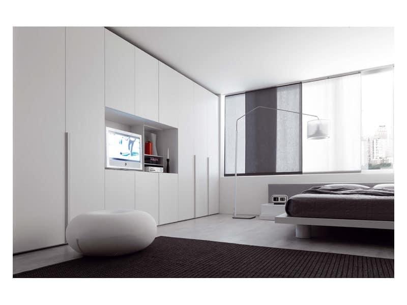 alfa aufklappbare t r 2 modularer schrank garderobe idfdesign. Black Bedroom Furniture Sets. Home Design Ideas