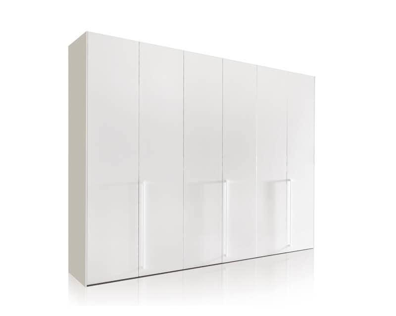 Kleiderschrank mit Flügeltüren, weiß lackiert, um die modernen ...