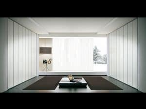 Schrank Idra 05, Lineare Kleiderschrank, Türöffnung bis zu 165 °