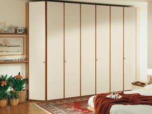 Schrank Paro 08, Moderne Kleiderschrank mit ergonomischen Griffen