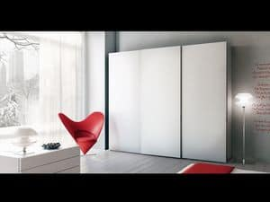 Schrank Zen 01, Kleiderschrank mit Schiebetüren, für Hotels und Büros