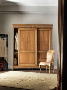 Art. CA718, Holzschrank mit Türen, fro klassischen Stil Schlafzimmer Schiebe
