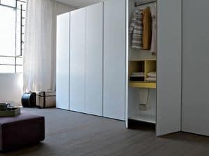 Bianco, Linear Kleiderschrank, erhältlich in verschiedenen Größen