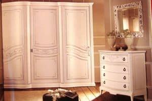 Boheme, Kleiderschrank mit 3 Türen zum Schlafzimmer, in luxuriösen klassischen Stil