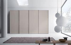 Cornice, Kleiderschrank mit Schiebetüren für Schlafzimmer