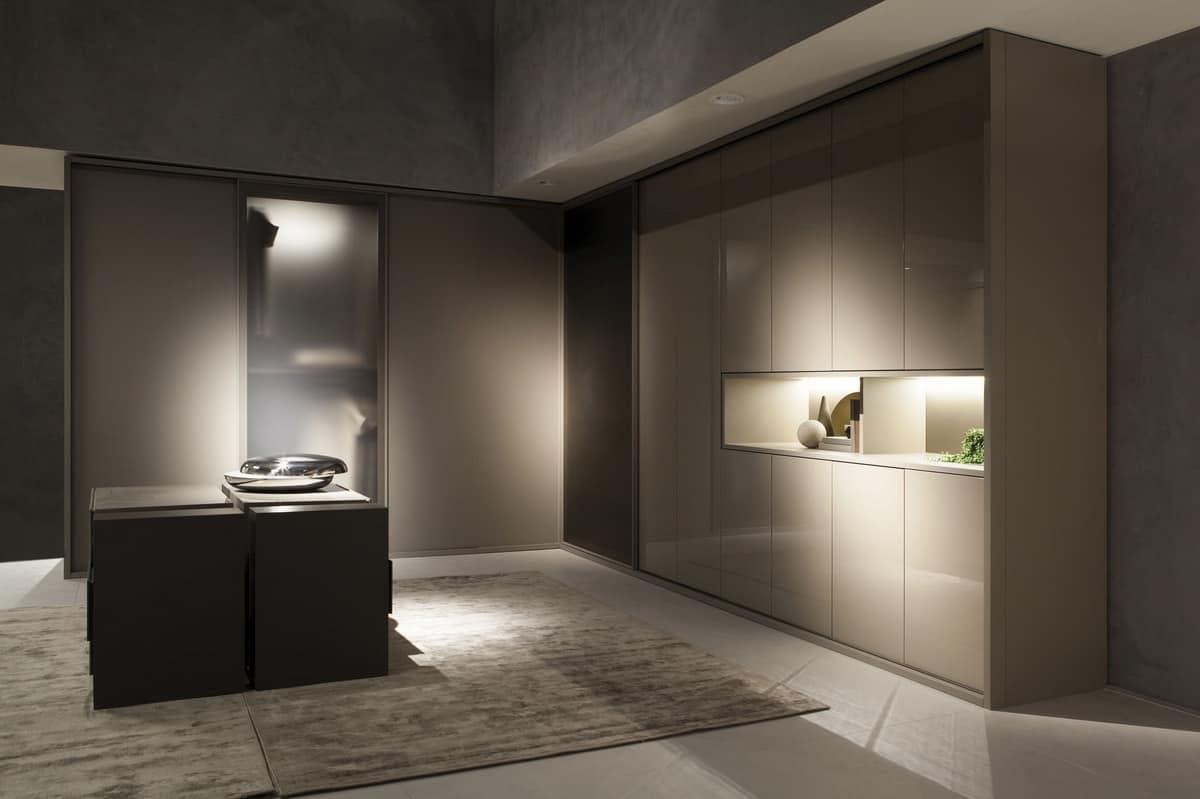 modularer kleiderschrank mit klapp und schiebet ren idfdesign. Black Bedroom Furniture Sets. Home Design Ideas