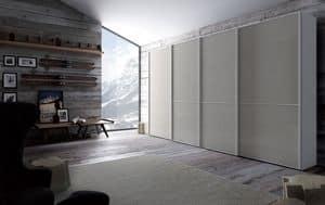 Link, Kleiderschrank im Woon und Glas, Schiebetür, für Schlafzimmer