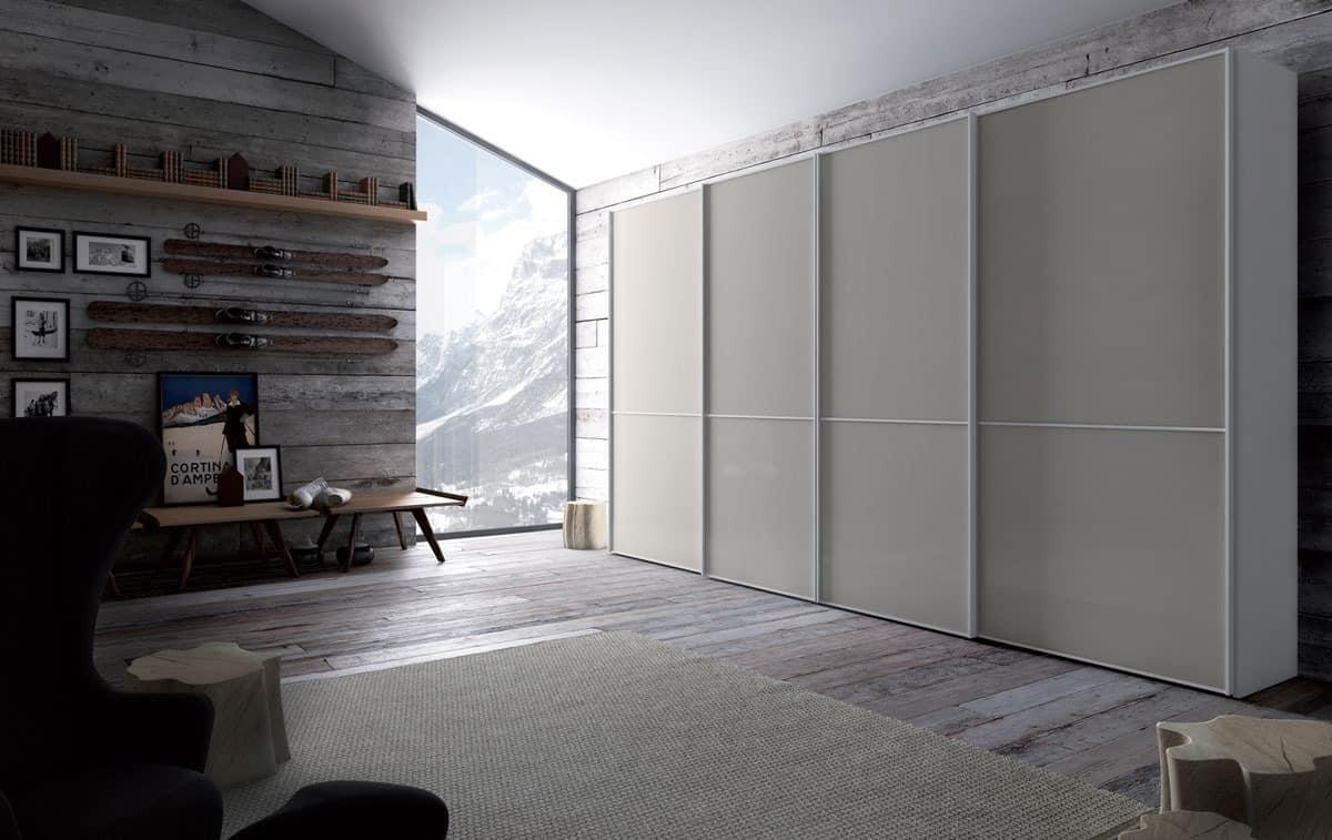 kleiderschrank im woon und glas schiebet r f r schlafzimmer idfdesign. Black Bedroom Furniture Sets. Home Design Ideas