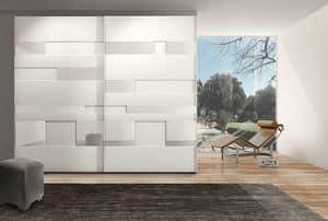 MISS GRAFF comp. 03, Moderne Kleiderschrank mit Schiebetüren für Hotels