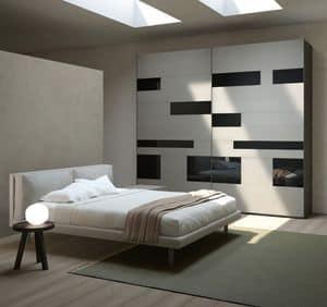 MISS GRAFF comp. 01, Holzgehäuse für die Schlafzimmer, in verschiedenen Farben
