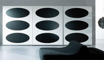 OBERON, Design Kleiderschrank im Stil der 70er Jahre, für Schlafzimmer