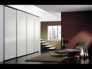 Schrank Coo 05, Kleiderschrank mit 4 Türen, im minimalistischen Stil, für Hotels
