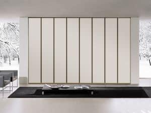 Schrank Tera 01, Linear Schrank mit weit öffnenden Türen, verschiedene Farben