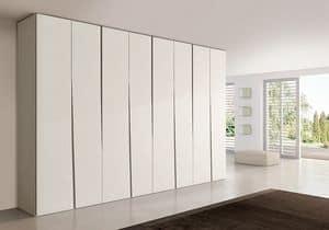 SIPARIO comp.02, Moderner Kleiderschrank für Schlafzimmer, schlank und kompakt