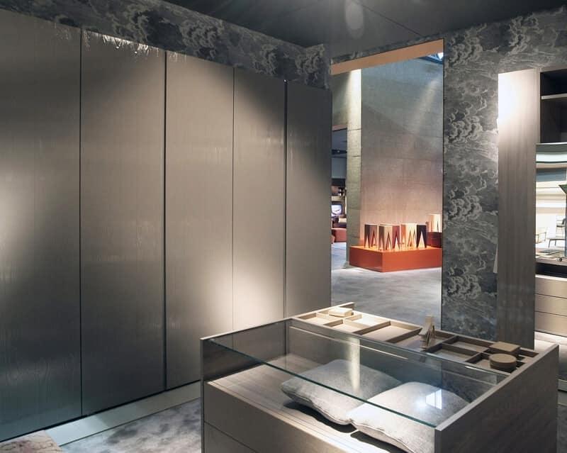 Sketch, Kleiderschrank mit Drehtüren, Eichenholz Kern für moderne Schlafzimmer