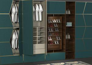 Zenit Schlafzimmer, Modulares System von ausgestatteten Wänden für Schlafzimmer