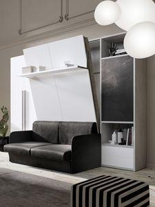54011 54017 SALVASPAZIO, Kleiderschrank mit platzsparendem Bett