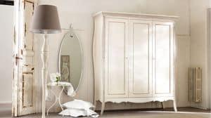 Amedeo Kleiderschrank, Massivholz Kleiderschrank, mit Intarsien und von Hand verziert