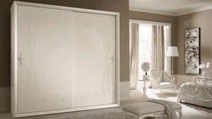 Siena Frame Kleiderschrank, Schrank mit Türen, klassischen, zeitgenössischen Stil Schiebetüren